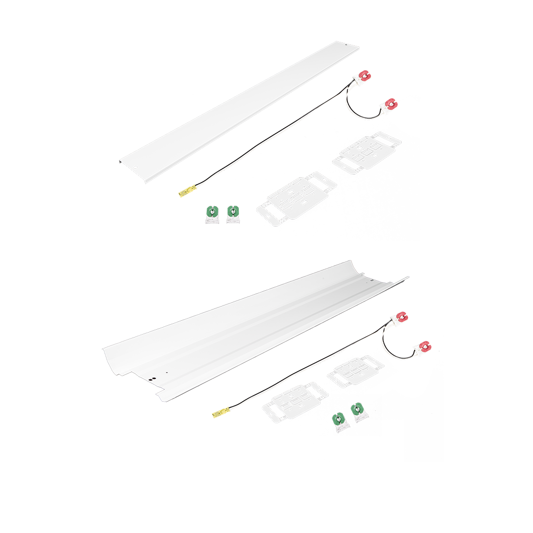 Universal Strip Retrofit Kit With Reflector & Universal Strip Ballast Cover Kit